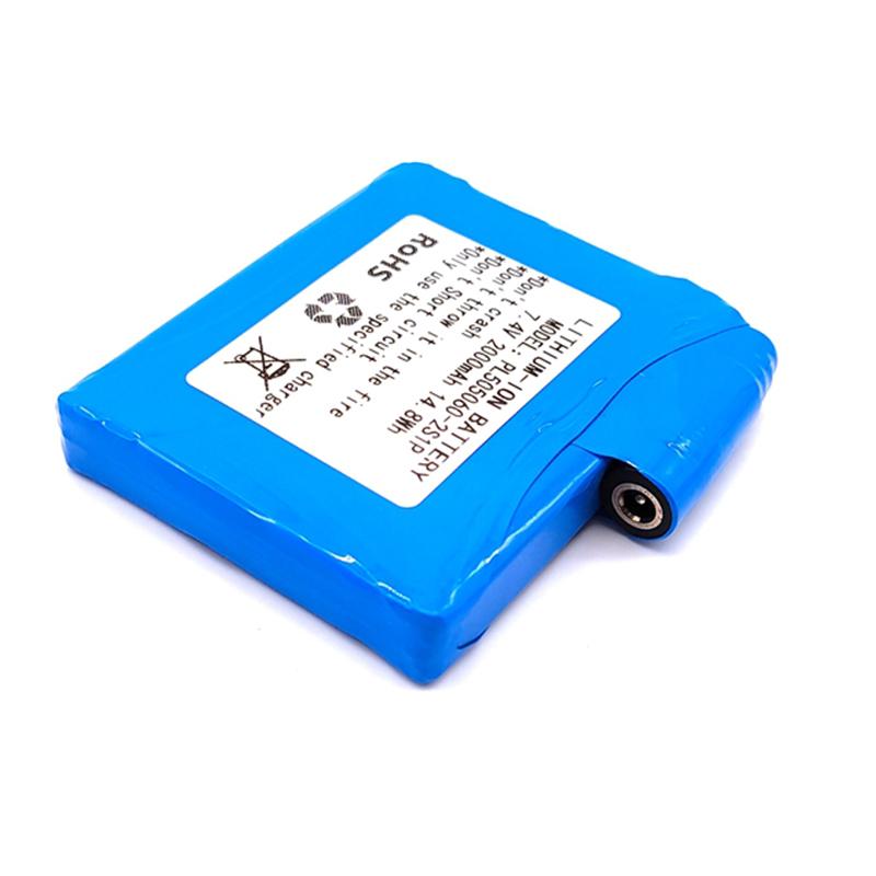 發熱服用PL505060-2000mAh-2S-藍色PVC膜