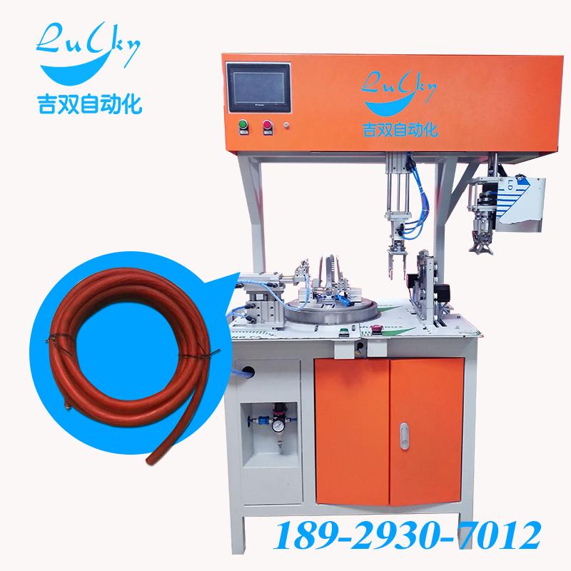 大线大圆圈双扎带通用型绕线扎线机/绕管扎管机深圳吉双自动化DL-BM0