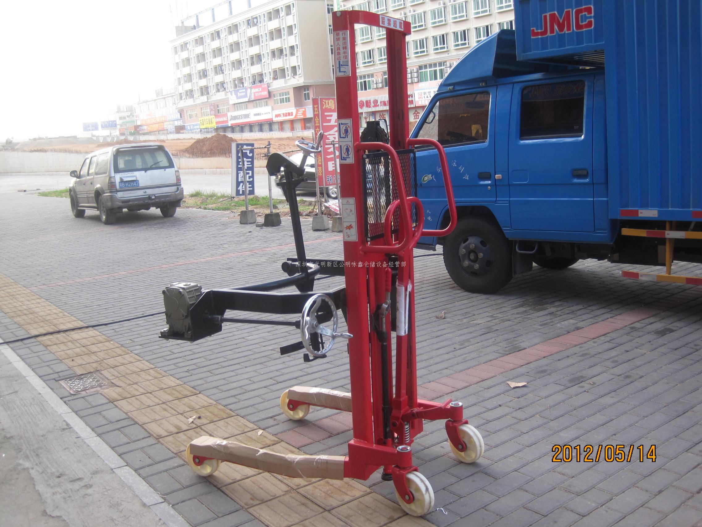 鸿福手升手翻可倾式油桶装卸车|深圳市光明新区公明