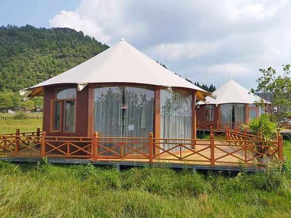 張拉膜酒店帳篷-八邊形酒店帳篷