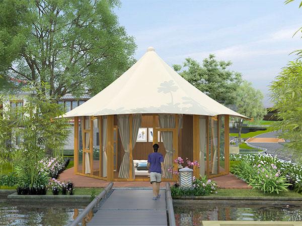 張拉膜酒店帳篷-六邊形酒店帳篷