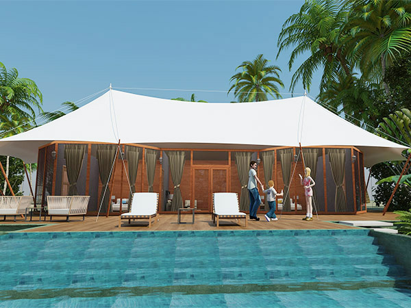 張拉膜酒店帳篷-雙峰酒店帳篷