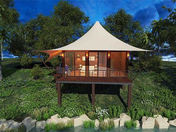 張拉膜酒店帳篷-四邊形酒店帳篷
