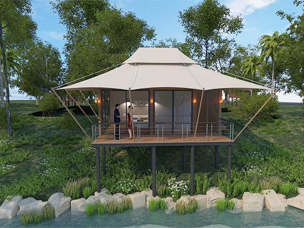 張拉膜酒店帳篷-長方形酒店帳篷