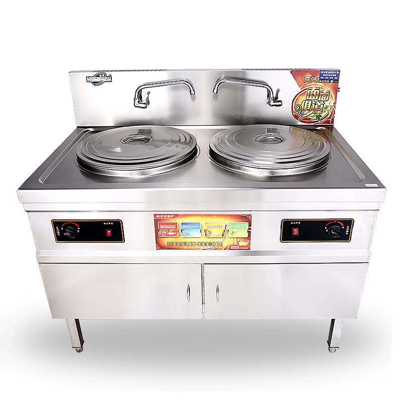 柜式雙頭低壓液化氣煮面爐