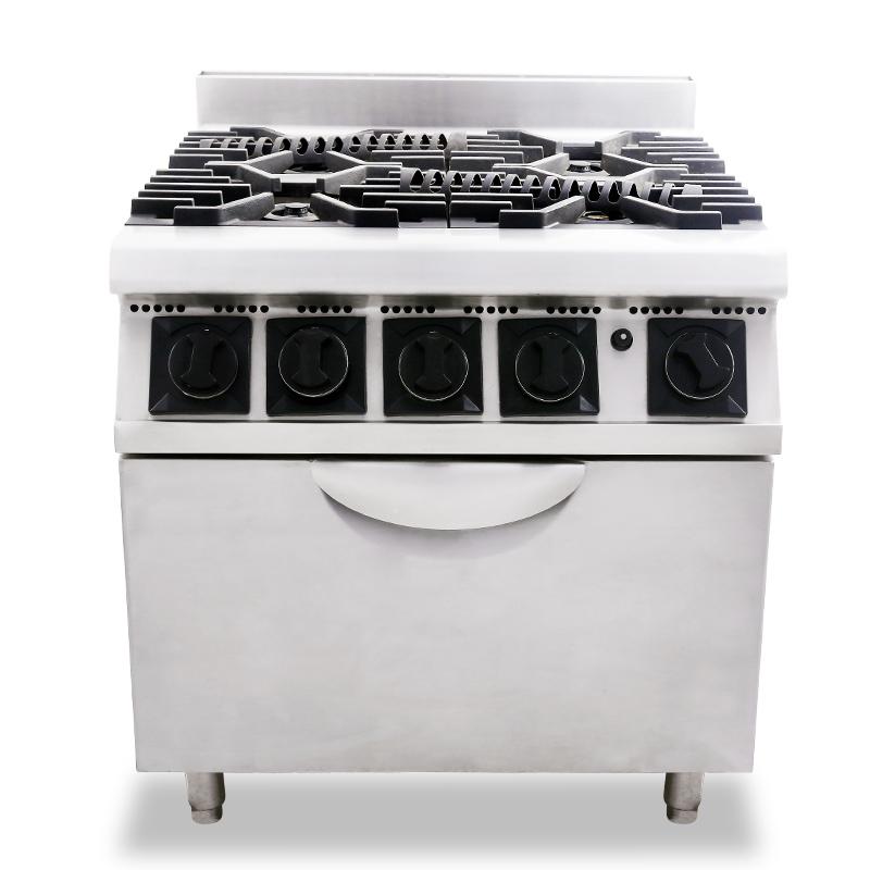 四頭煮食爐連鋦爐(電)