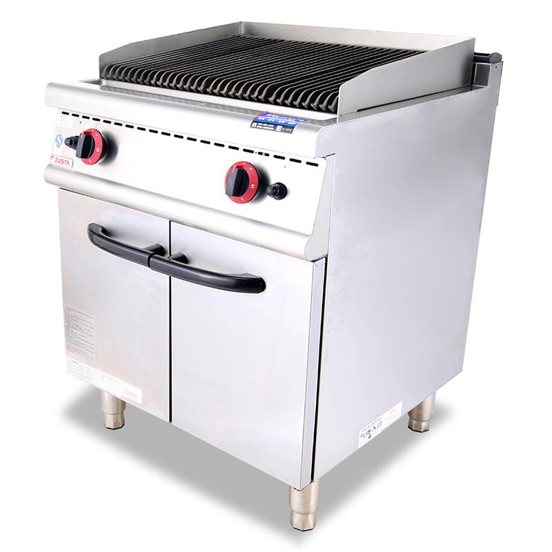 液化氣巖火燒烤爐連柜座
