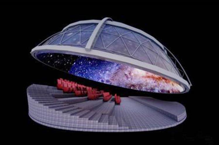 720°异形影院整包建设_奥德瑞特光电_触摸式_大型_移动