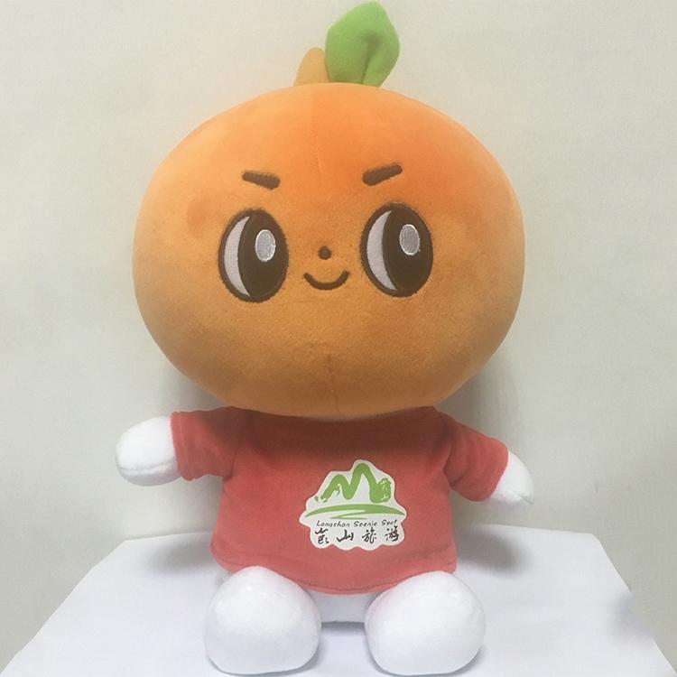 旺成动漫_可爱_儿童玩具毛绒橙哚公仔厂家定制