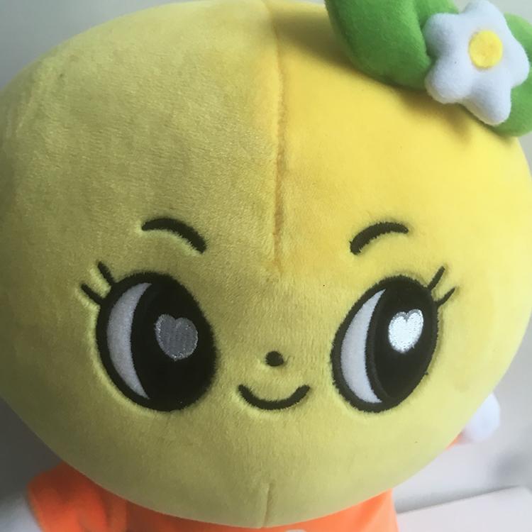 白銀毛絨公仔定制_旺成動漫_禮品卡通_卡通動漫_益智_可愛_橙子