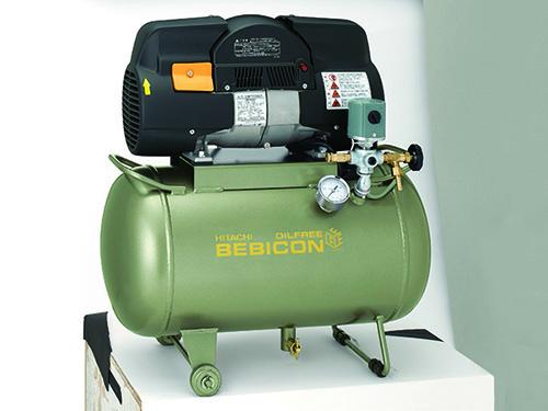 日立小型無油空氣壓縮機0.75LE-8S5C