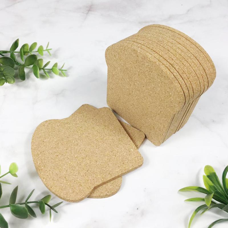 軟木面包型杯墊