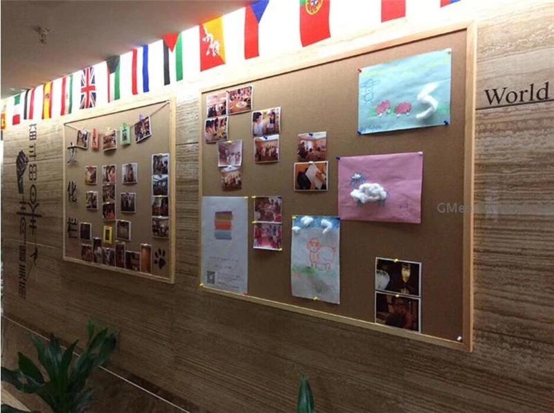 學校幼兒園辦公軟木展示板 照片墻