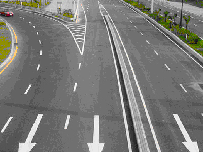 高速公路施工划线