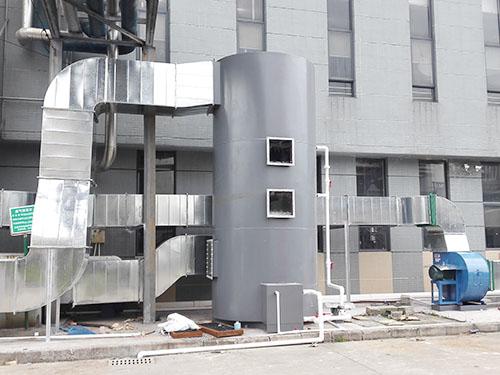 興森環保 望牛墩廢氣凈化塔廢氣處理是什么樣子