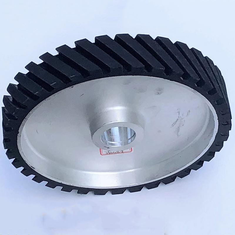 打磨机铝芯橡胶轮生产厂_鑫旺鑫_系带式_250*150