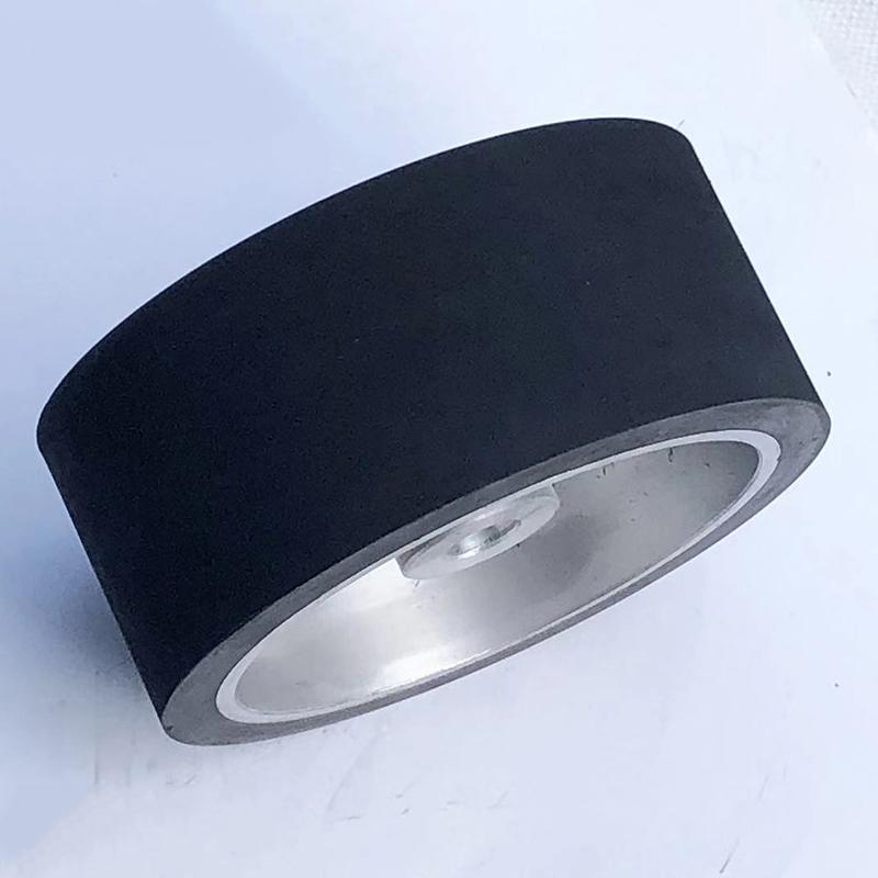 砂带机铝芯橡胶轮定制厂家_鑫旺鑫_立式设备_滚轴_转动_铝盘