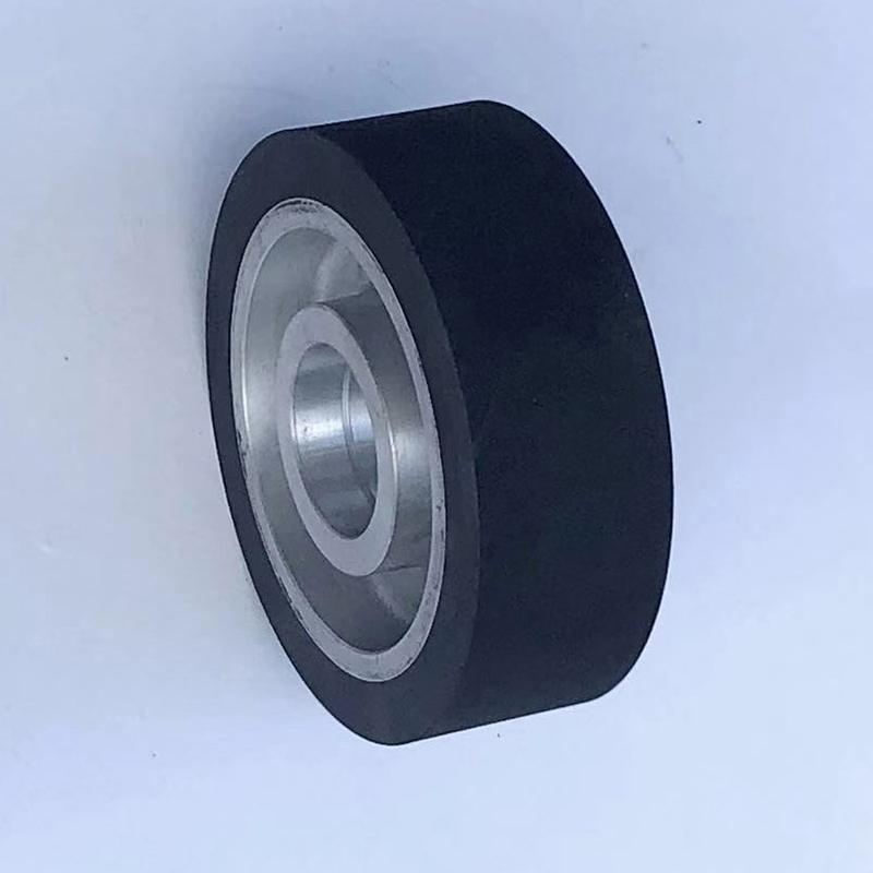 斜紋鋁芯橡膠輪專業生產廠_鑫旺鑫_鋁盤_300*75_砂帶傳動
