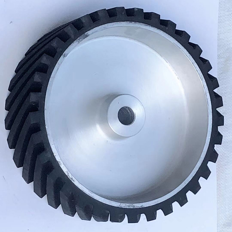 系帶式鋁芯橡膠輪生產_鑫旺鑫_從動_皮帶傳動_350*50_太陽