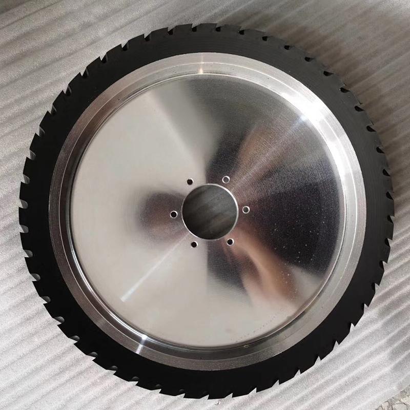 轉動鋁芯橡膠輪供應商_鑫旺鑫_紗布帶機_150*75_打磨機