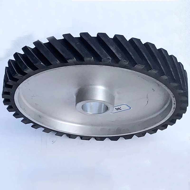 轉動鋁芯橡膠輪銷售商_鑫旺鑫_255mm_鋁盤_轉動_立式設備