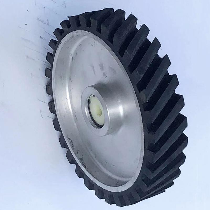 255mm鋁芯橡膠輪價位_鑫旺鑫_系帶式_砂帶傳動_耐溫_打磨機