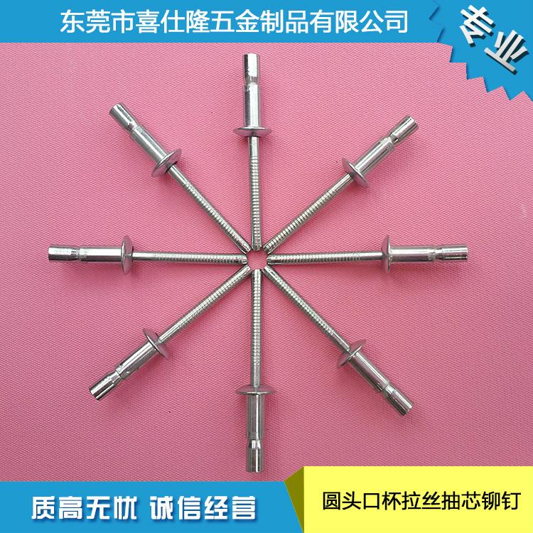 厂家供应 拉丝铆钉 半不锈钢拉钉 圆头口杯拉丝拉铆钉4.8x14