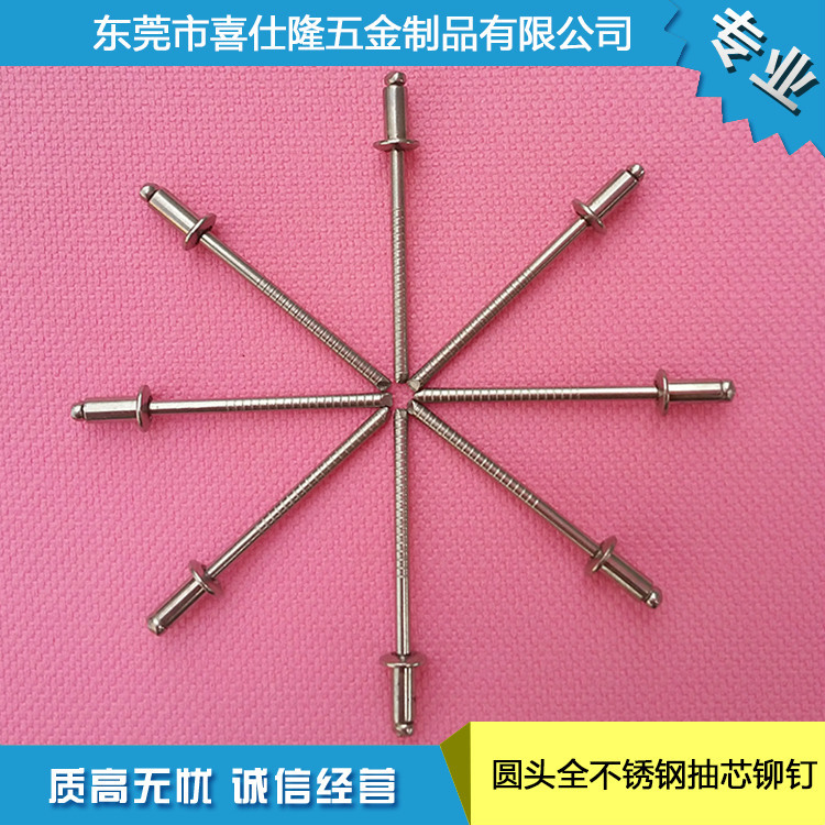 铁抽芯铆钉 铜拉铆钉 价格优惠 优质圆头全不锈钢抽芯铆钉