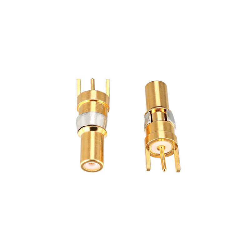 迅颢原_75欧姆弯插板式同轴射频端子订做_焊板式_直焊板式
