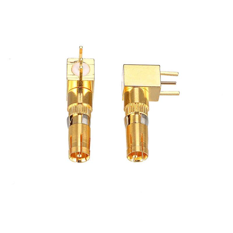 迅颢原_75欧姆弯焊板式同轴射频端子定做_50欧姆焊板式