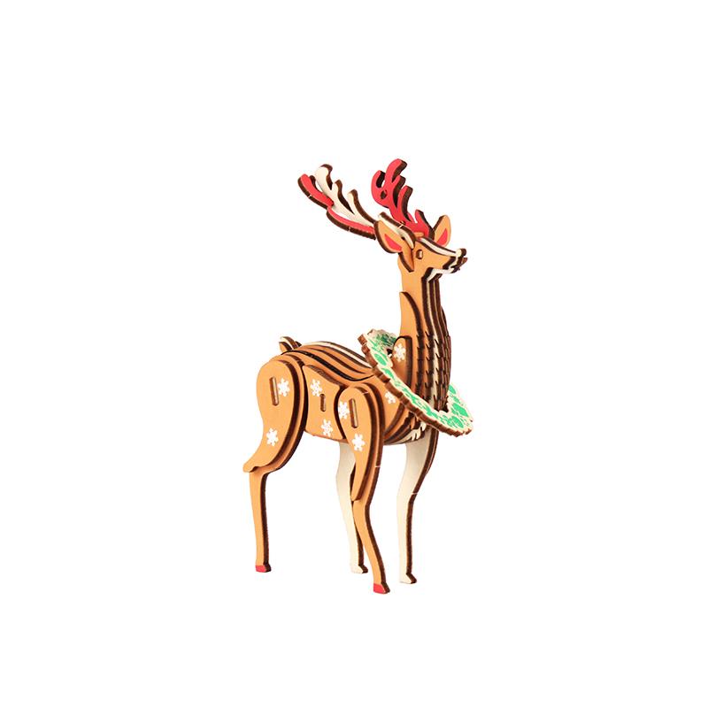 踏雪驯鹿-动物拼图