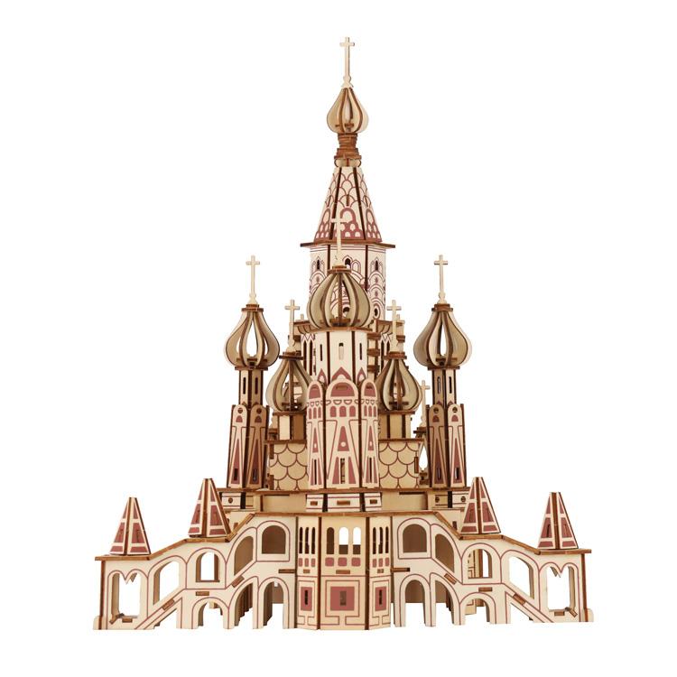 俄罗斯圣瓦西里大教堂-建筑拼图