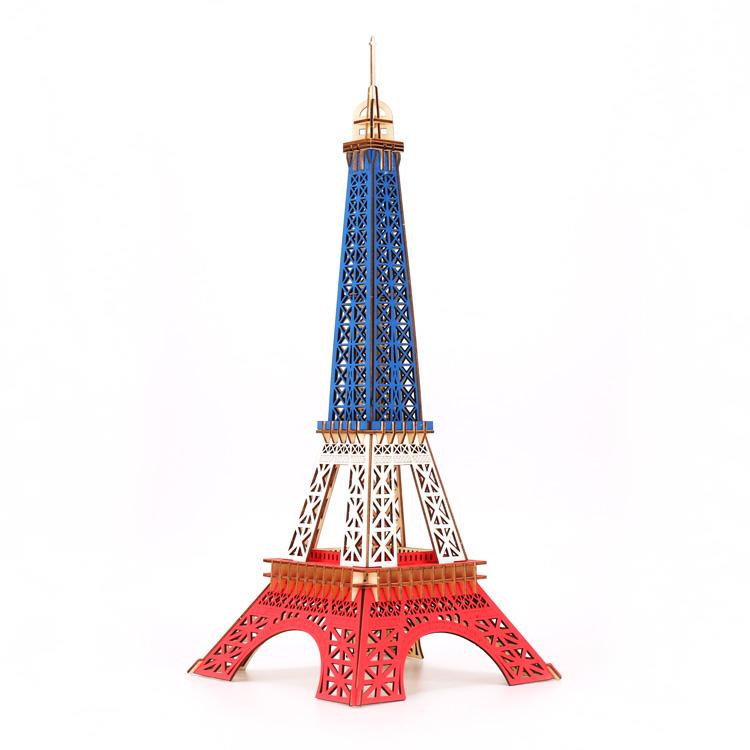 艾菲尔铁塔-建筑立体拼图