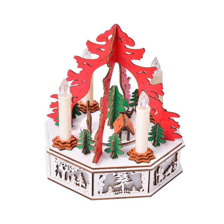 圣诞烛台音乐盒