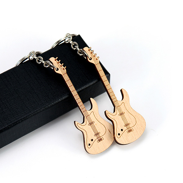 吉他广告促销钥匙扣
