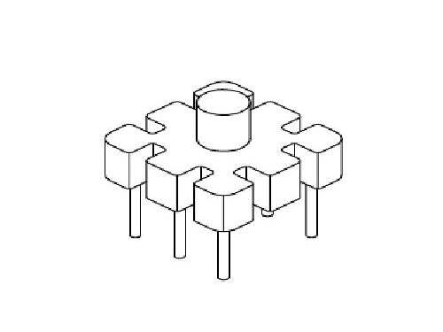 YT-004  磁环底座 基座 BASE   10×10 BASE(3+3P)  变压器骨架,贴片式骨架
