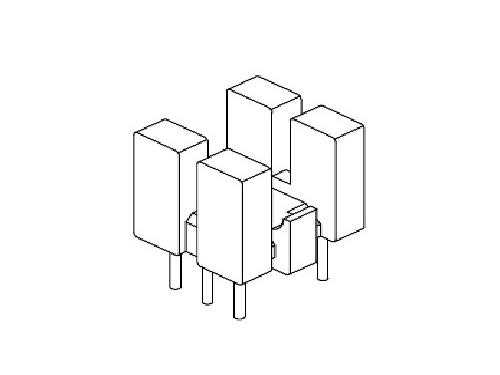 YT-005  磁环底座 基座 BASE   9×8BASE(3+3P) 变压器骨架,贴片式骨架