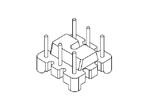 YT-012 磁环底座 基座 BASE   10×10  BASE(3+3P)  变压器骨架,贴片式骨架