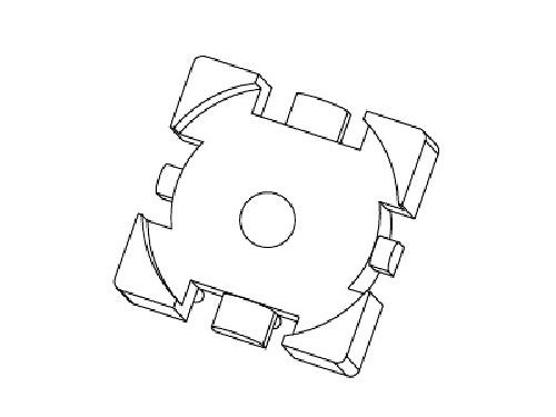 磁环底座 基座 电感底座 变压器骨架 贴片式骨架 BASE YT-012A