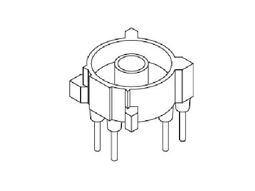 YT-017 磁环底座 基座 BASE   ∮8.3 COVER 6P  变压器骨架,贴片式骨架