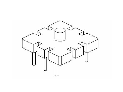 YT-018 磁环底座 基座 BASE   13×13(3+3P)  变压器骨架,贴片式骨架