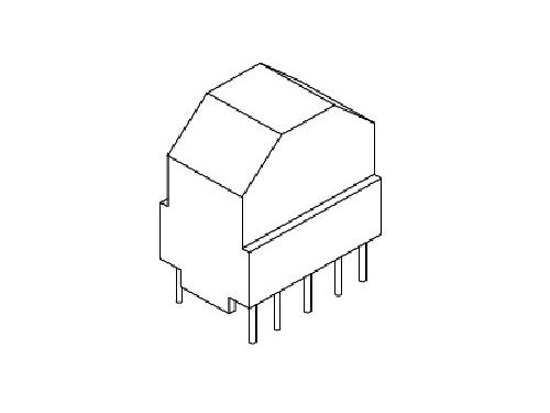 YT-019  磁环底座 基座 27×18 COVER (5+5P)  变压器骨架,贴片式骨架