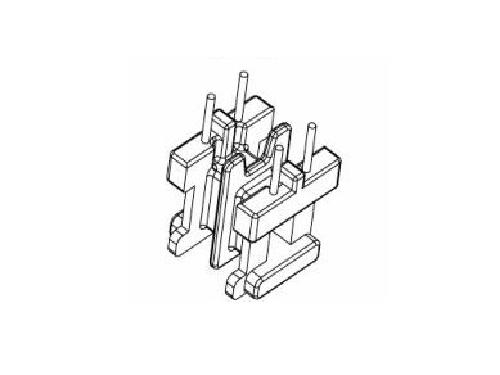 EE8.3 卧式双槽 变压器骨架 电木骨架  YT-0811  2+2pin  骨架,贴片式骨架