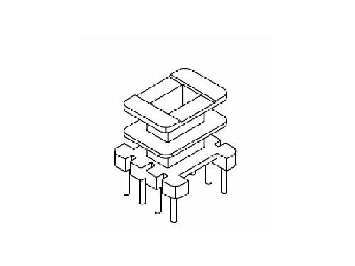 EE10 EI10 双槽骨架 立式变压器骨架 4+4 电木骨架  YT-1003-1 骨架,贴片式骨架