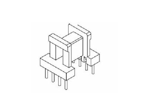 ee10 ei10 骨架 立式变压器骨架 4+4 电木骨架 yt-1012 骨架,贴片式
