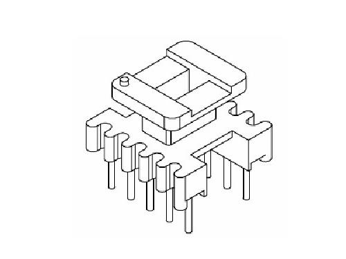 EI12.5 EE12.5骨架 立式变压器骨架 5+5 电木骨架  YT-1024  骨架,贴片式骨架