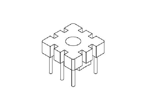 YT-020 磁环底座 基座 BASE   10×10 (3+3P)  变压器骨架,贴片式骨架