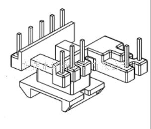 EE16变压器骨架EE16电木骨架EE16高频骨架胶木骨架EI16电源骨架YTE-1623