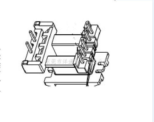 EE22变压器骨架 EI22电木骨架EE22高频骨架EI22电源骨架EE22加宽骨架 YTG-2214