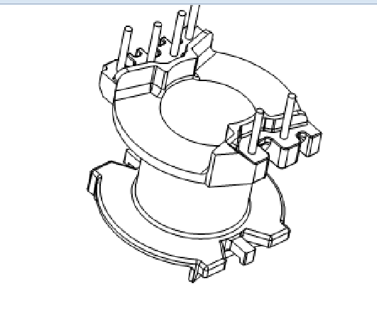 PQ2018变压器骨架PQ2017骨架PQ20高频骨架PQ21电木骨架PQ2018电源骨架YTD-2010